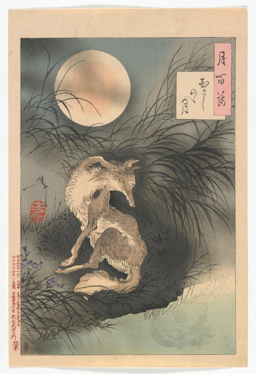 Revealed by Moonlight: Shapeshifters in Japanese Woodblock Prints