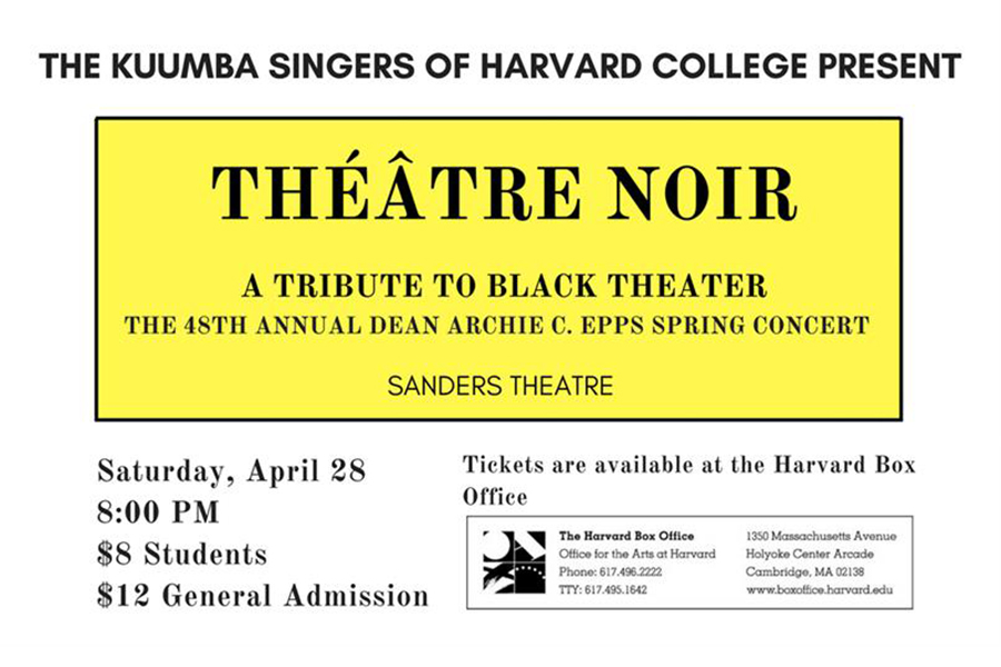 Théâtre Noir: A Tribute to Black Theater — The 48th Annual Dean Archie C. Epps Spring Concert