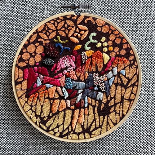 Freestyle Embroidery on Kimono Silk