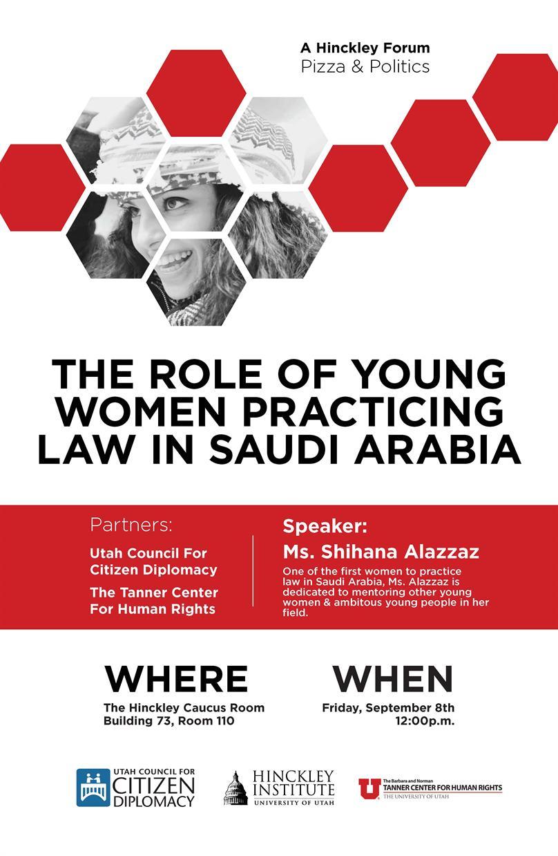 Working Women & Globalization:  A Conversation with Saudi Lawyer Shihana Alazzaz
