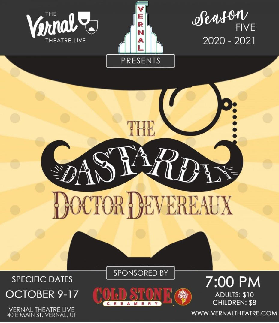 When Is The 2020 Wendys Christmas Party In Vernal Utah The Dastardly Doctor Devereaux, Monday, October 12, 2020, 7   9pm