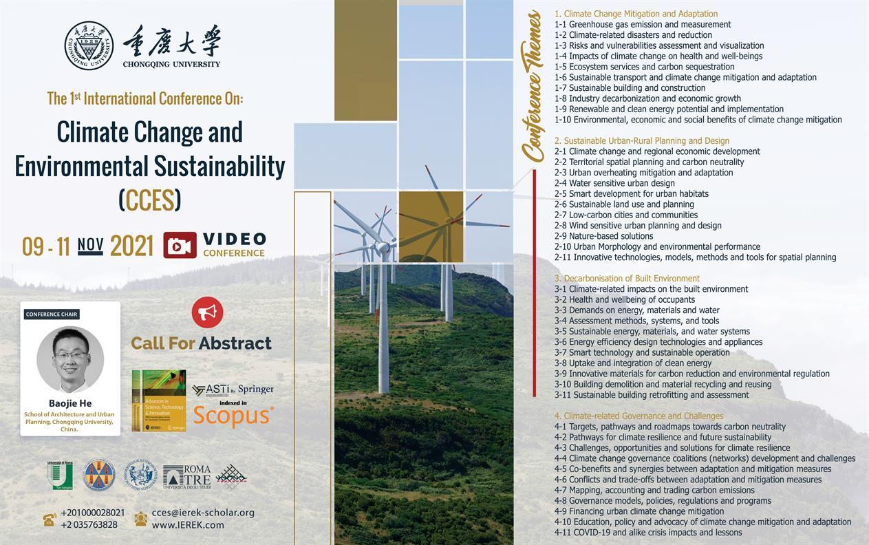 Climate Change and Environmental Sustainability conference