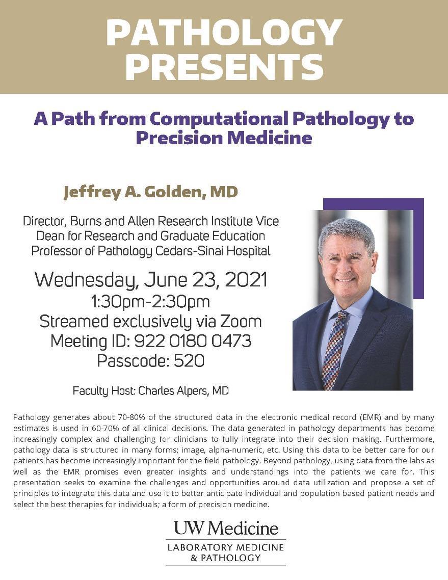 Pathology Presents: Jeffrey Golden, MD