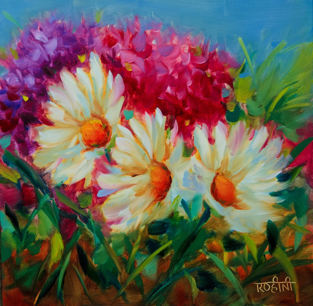 Oil Painting: Daisies and Hydrangeas (online)