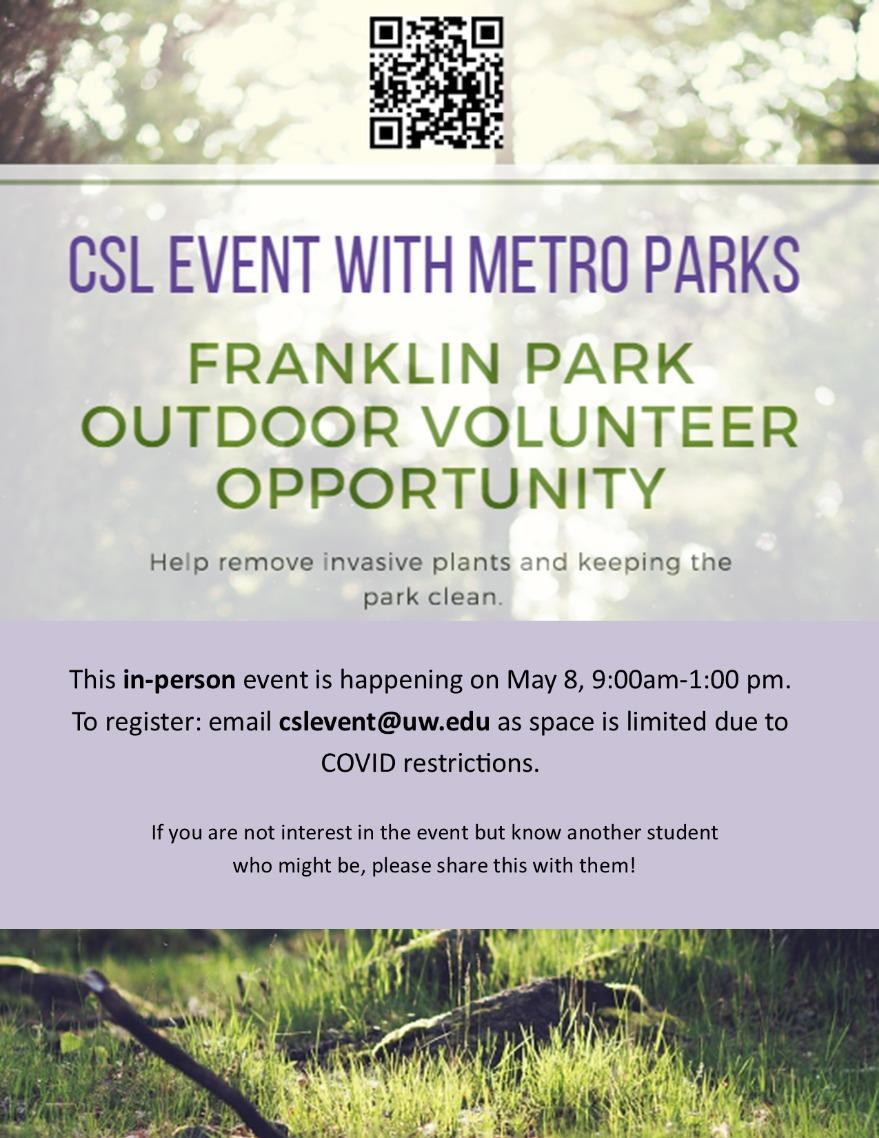 Franklin Park Outdoor Volunteer Opportunity