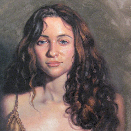 Portrait Painting in Oil and Acrylic