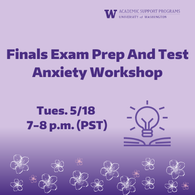 ASP Workshop: Finals Exam Prep And Test Anxiety