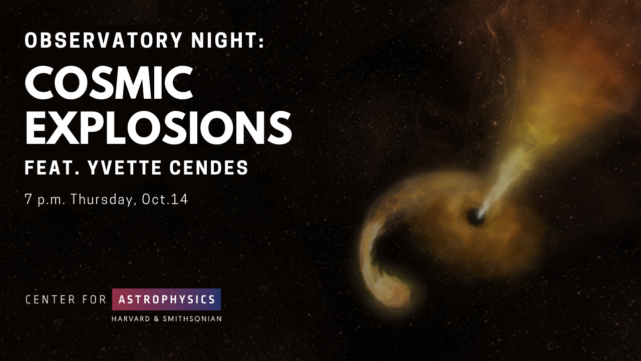 Observatory Night: Cosmic Explosions, from Supernovae to Tidal Disruption Events