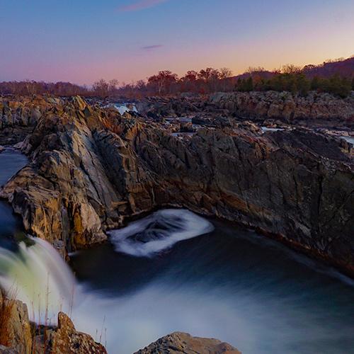 Sunrise Hike at Great Falls, Virginia