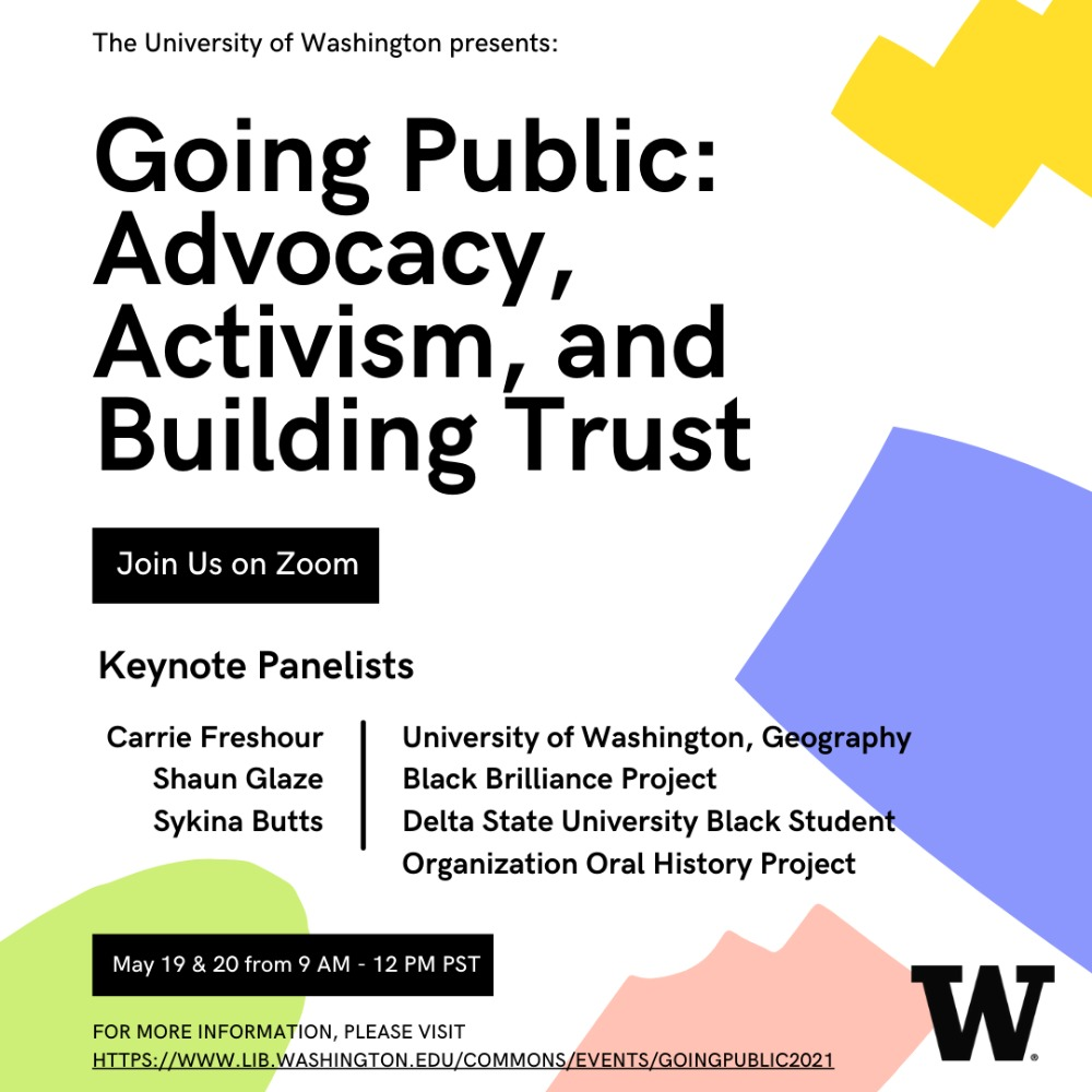 Going Public: Advocacy, Activism, and Building Trust -- Day One