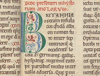Beyond the Book of Kells: A Twelfth-Century Bede from Bury
