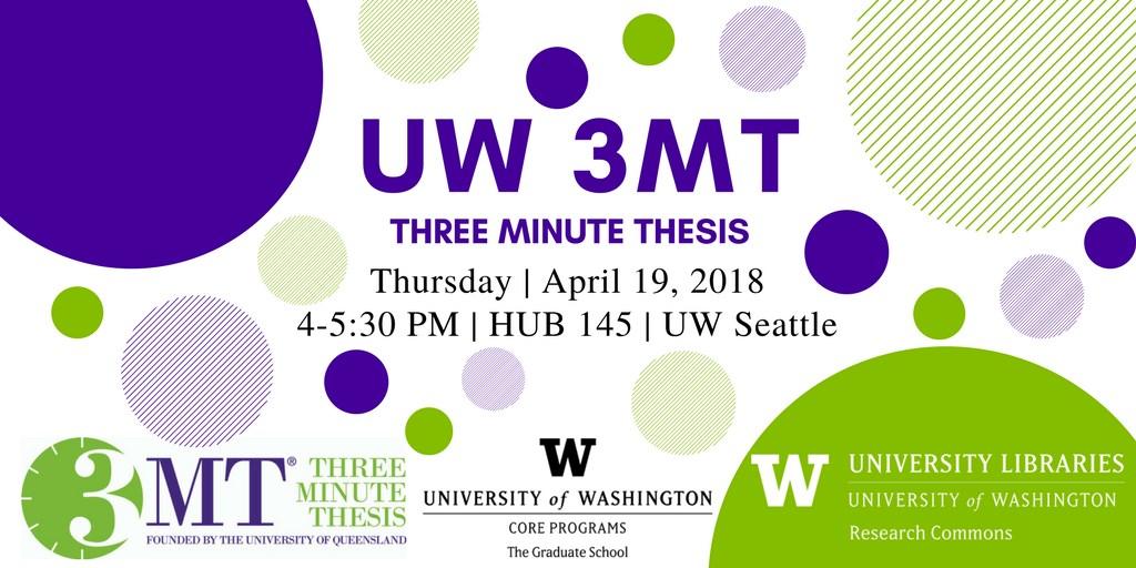 2018 UW Three Minute Thesis Competition (UW 3MT)