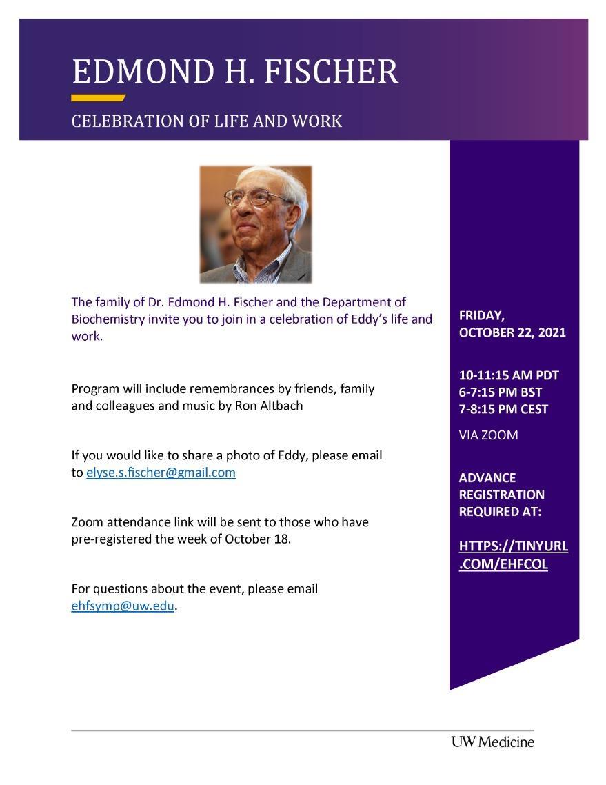 Edmond H. Fischer Celebration of Life and Work
