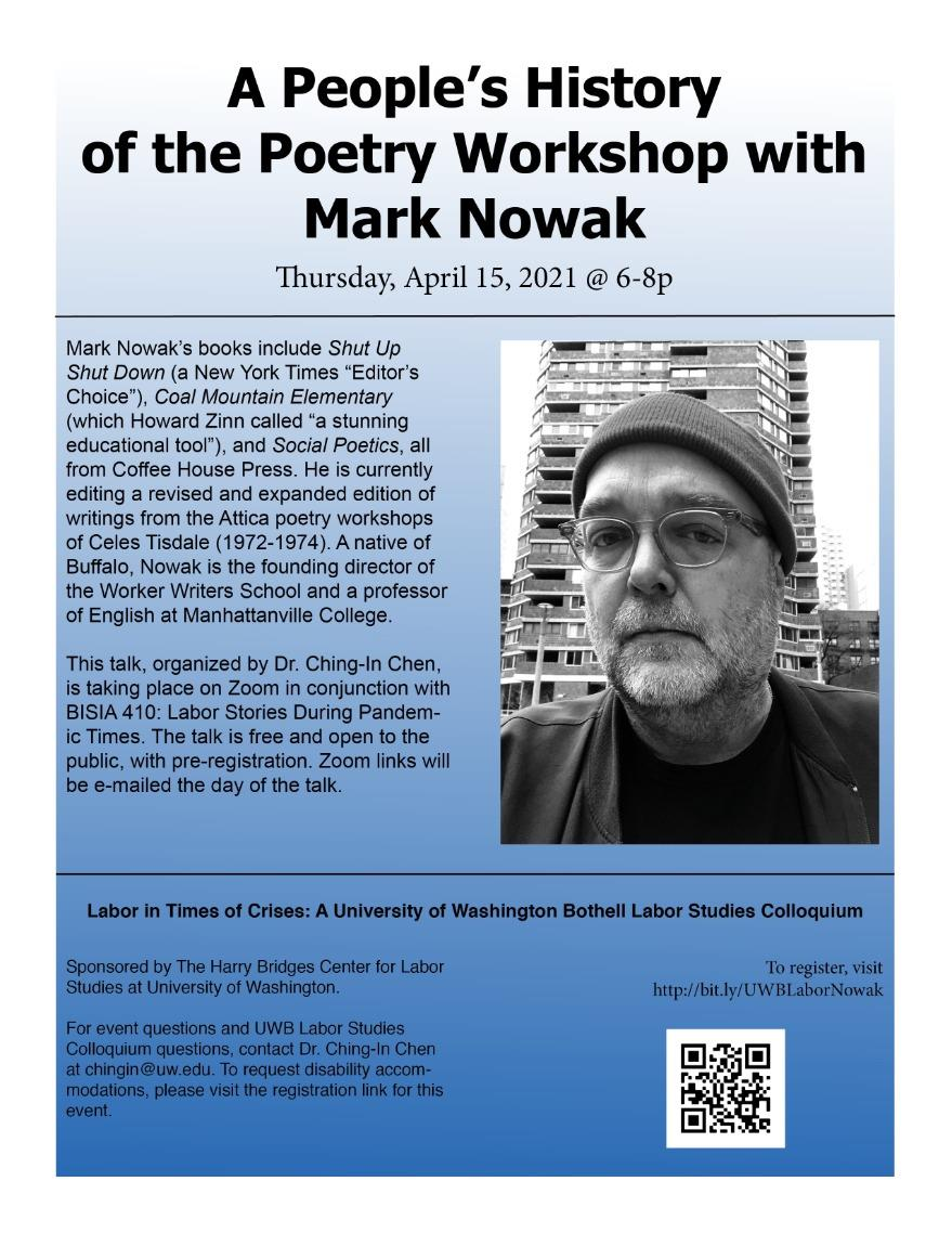 "Mark Nowak on ""A People's History of the Poetry Workshop"""