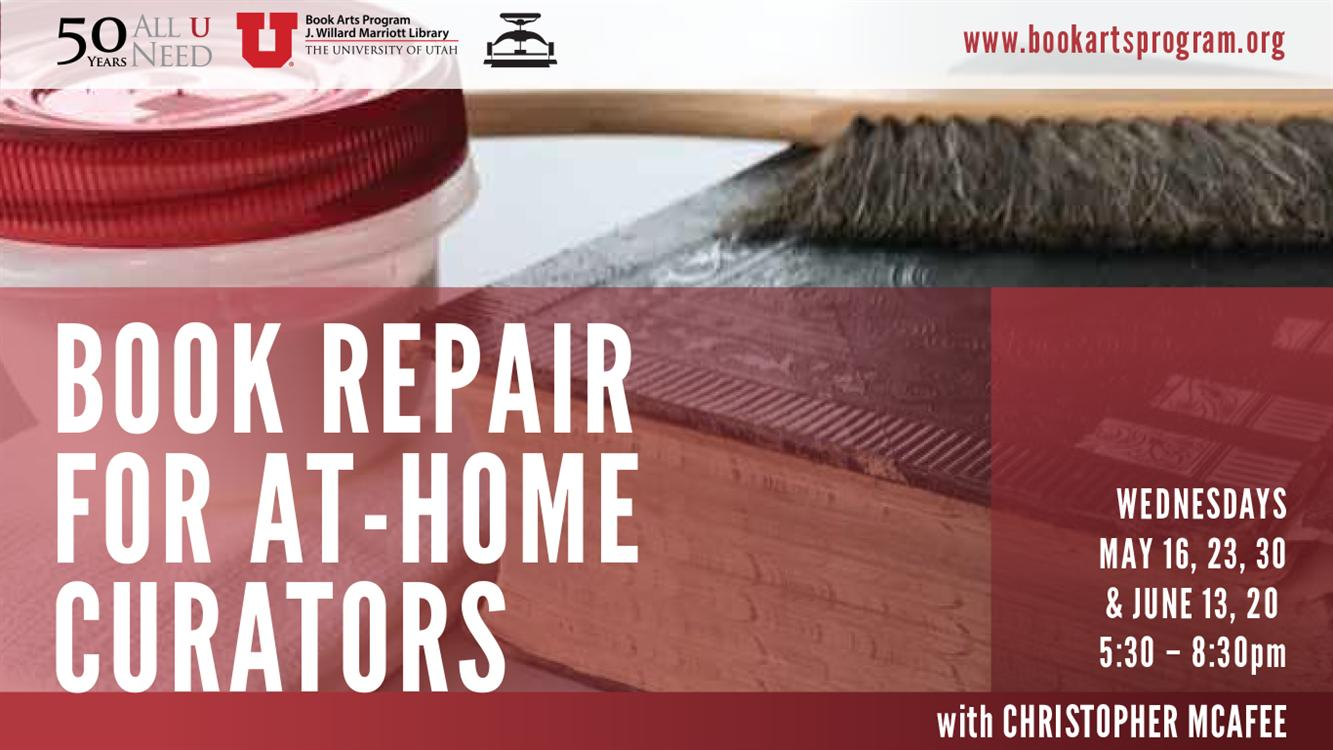 Book Repair for At-home Curators: Christopher McAfee
