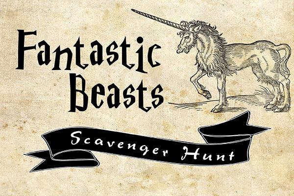 Fantastic Beasts Scavenger Hunt