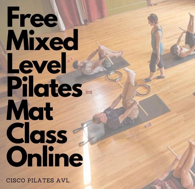 VIRTUAL Mixed Level Pilates Mat Class for Beginners with Cisco Pilates AVL