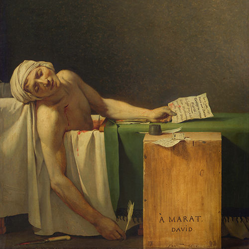 Art + History: The Death of Marat by Jacques-Louis David
