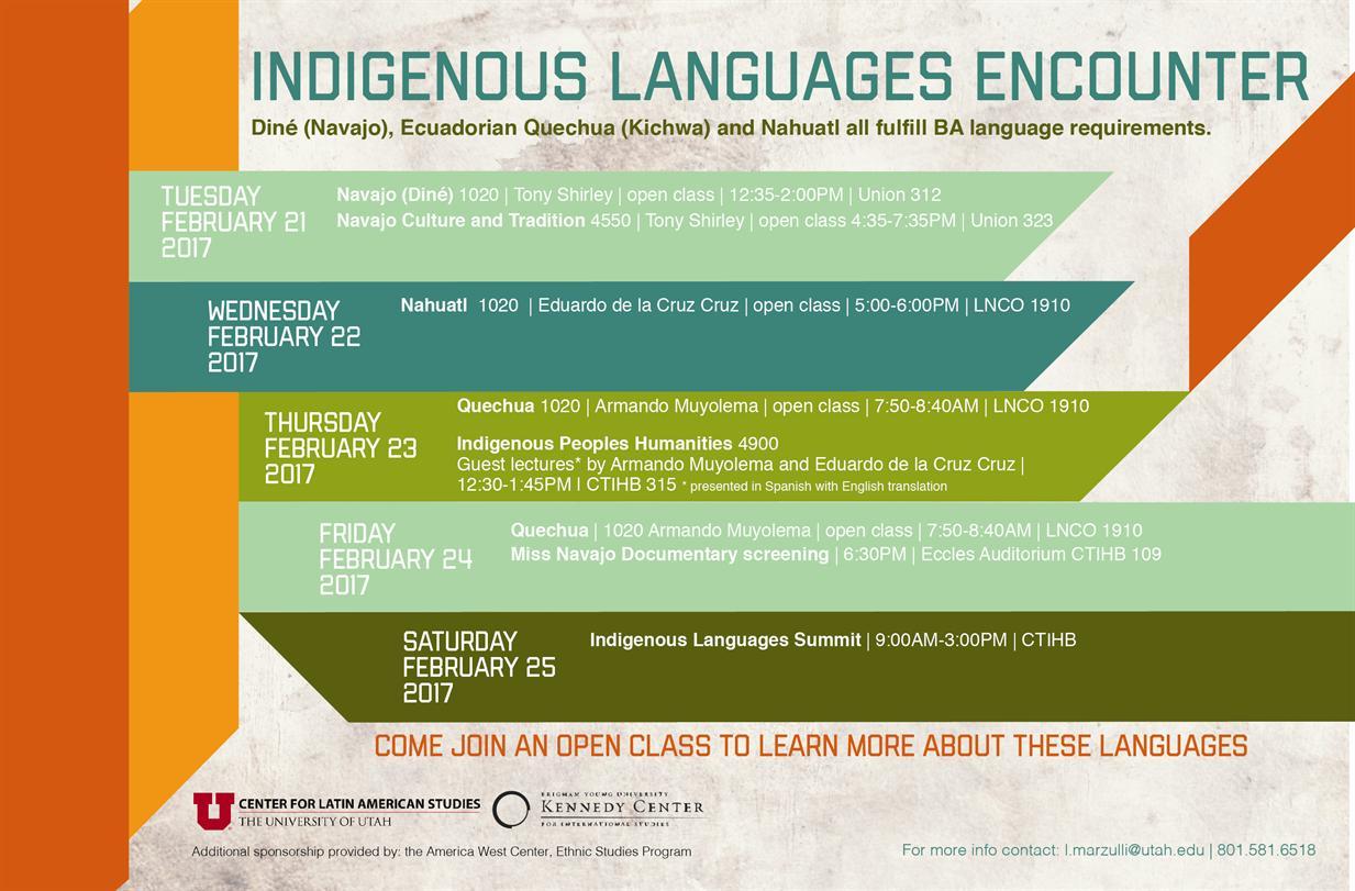 Navajo (Diné) 1020 | Open Class | Indigenous Languages Encounter