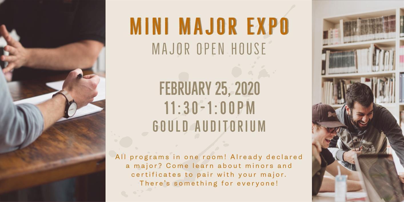 Major Open House: Mini Major Expo