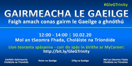 Gairmeacha le Gaeilge: Foghlaim conas gairm le Gaeilge a ghnóthú