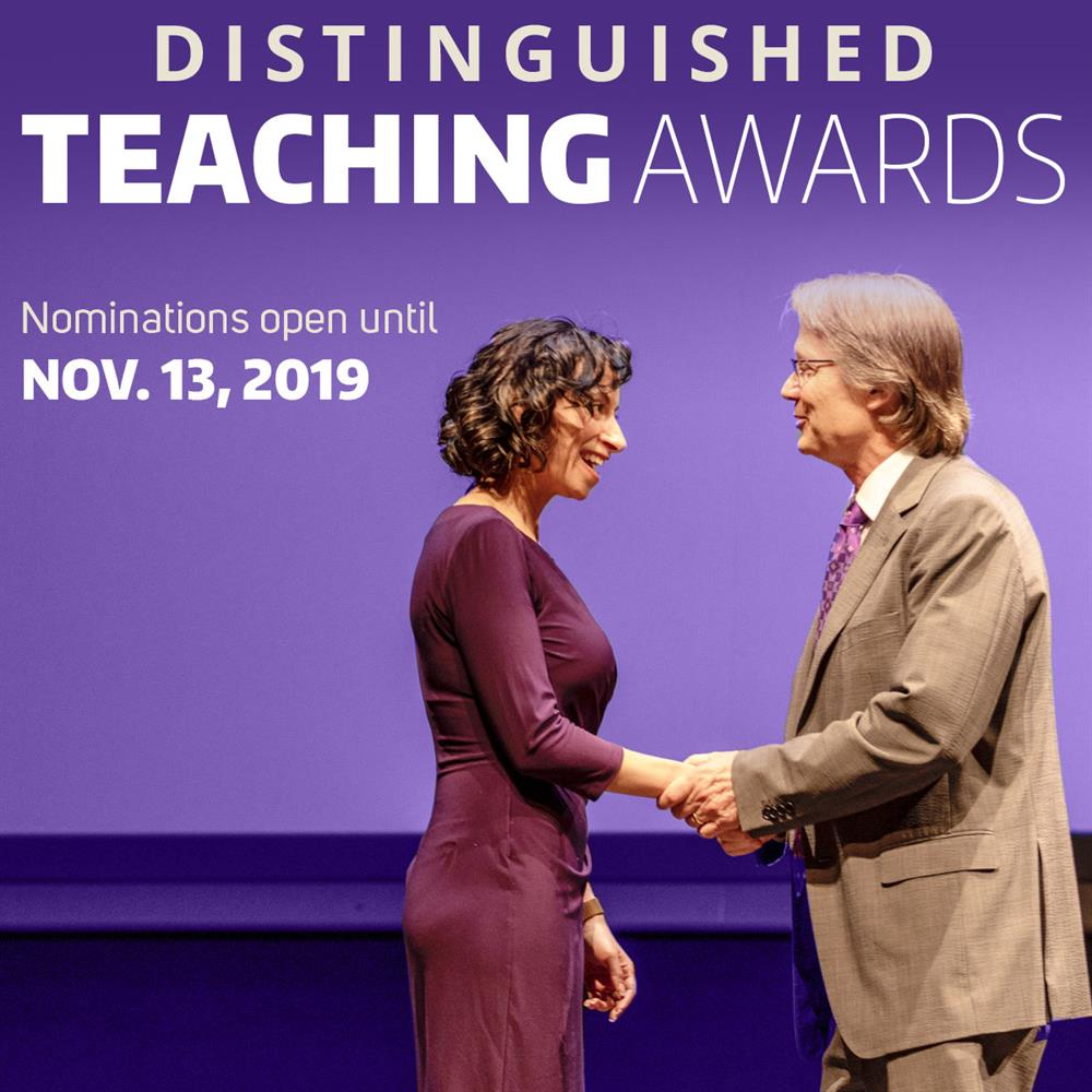 Call for nominations: Distinguished Teaching Awards