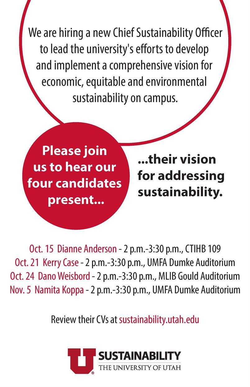 Chief Sustainability Officer Candidate Presentation