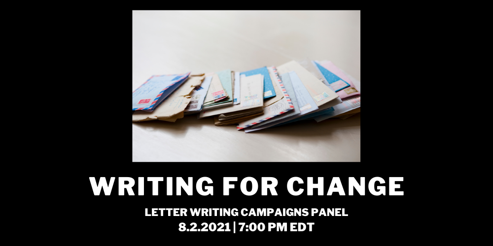 Writing for Change: Letter Writing Campaigns Panel
