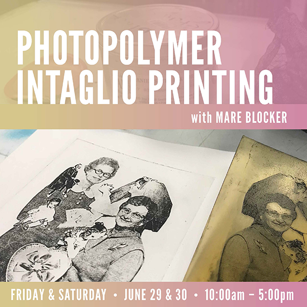 Photopolymer Intaglio Printing with Mare Blocker