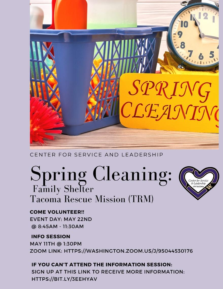 Tacoma Rescue Mission Spring Cleaning Info Session