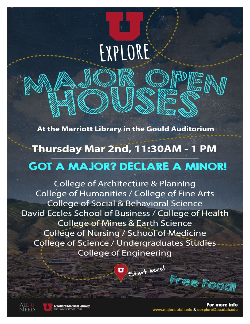 "UExplore Major Open House ""Got a Major? Declare a Minor!"""