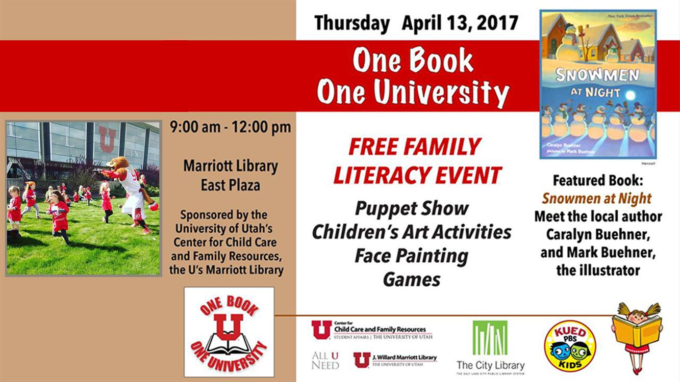 One Book, One University | Free Family Literacy Event
