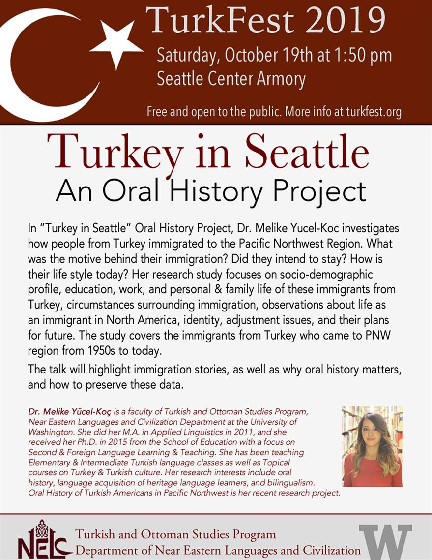 Turkey in Seattle: An Oral History Project
