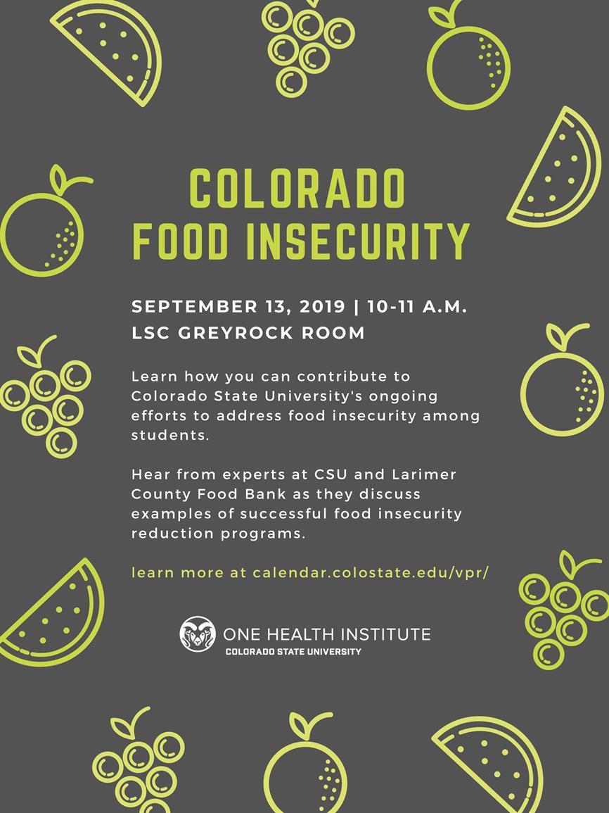 Colorado Food Insecurity Program