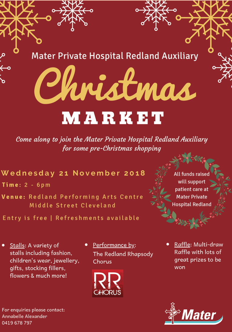 Redland City Event - Mater Private Hospital Redland Auxiliary