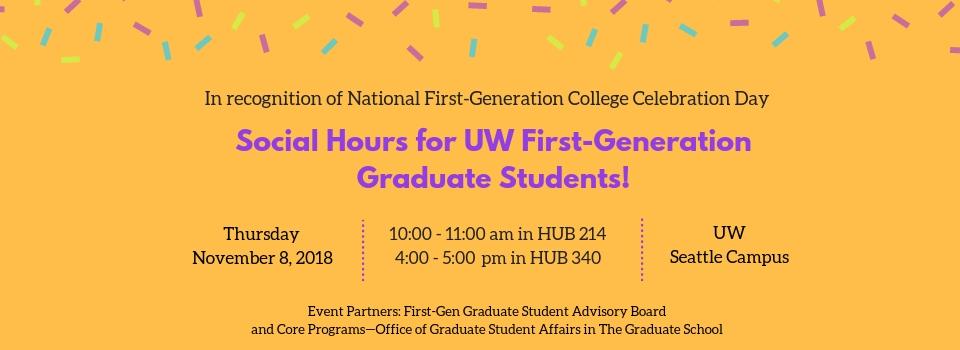 Social Hour for UW First-Gen Graduate Students