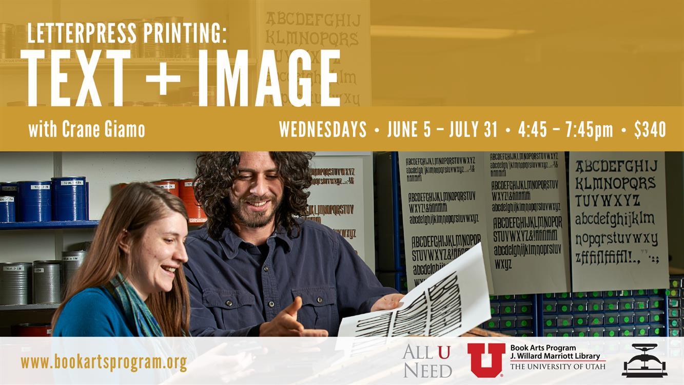 Workshop! Letterpress Printing: Text + Image