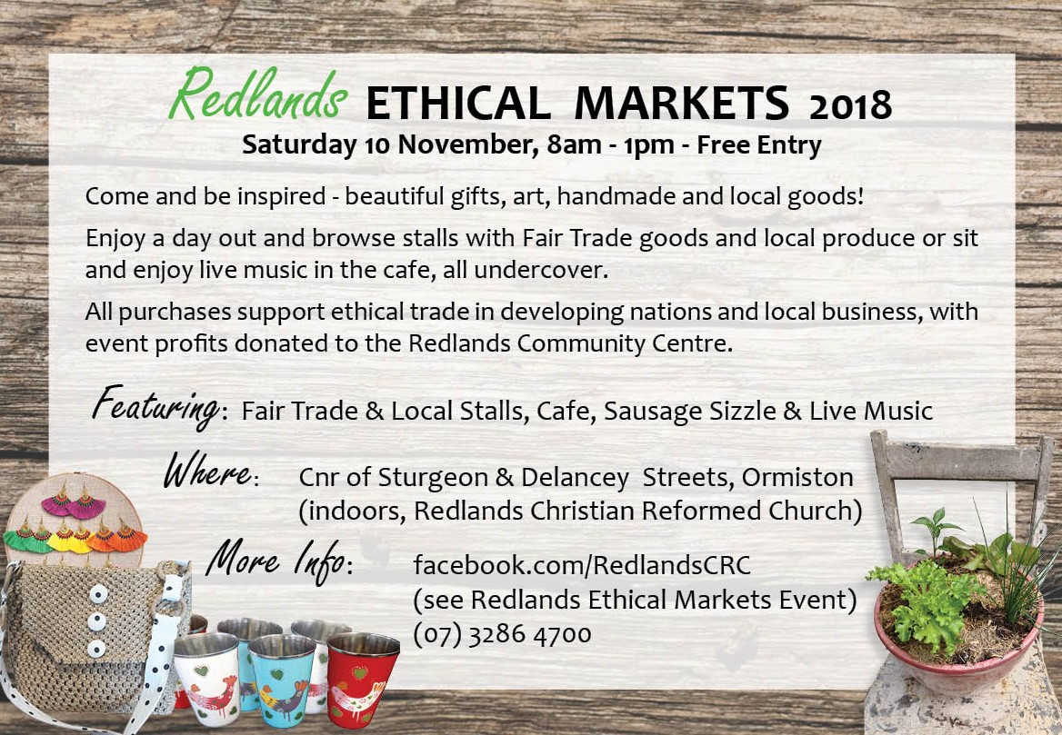 Redland City Event - Redlands Ethical Markets