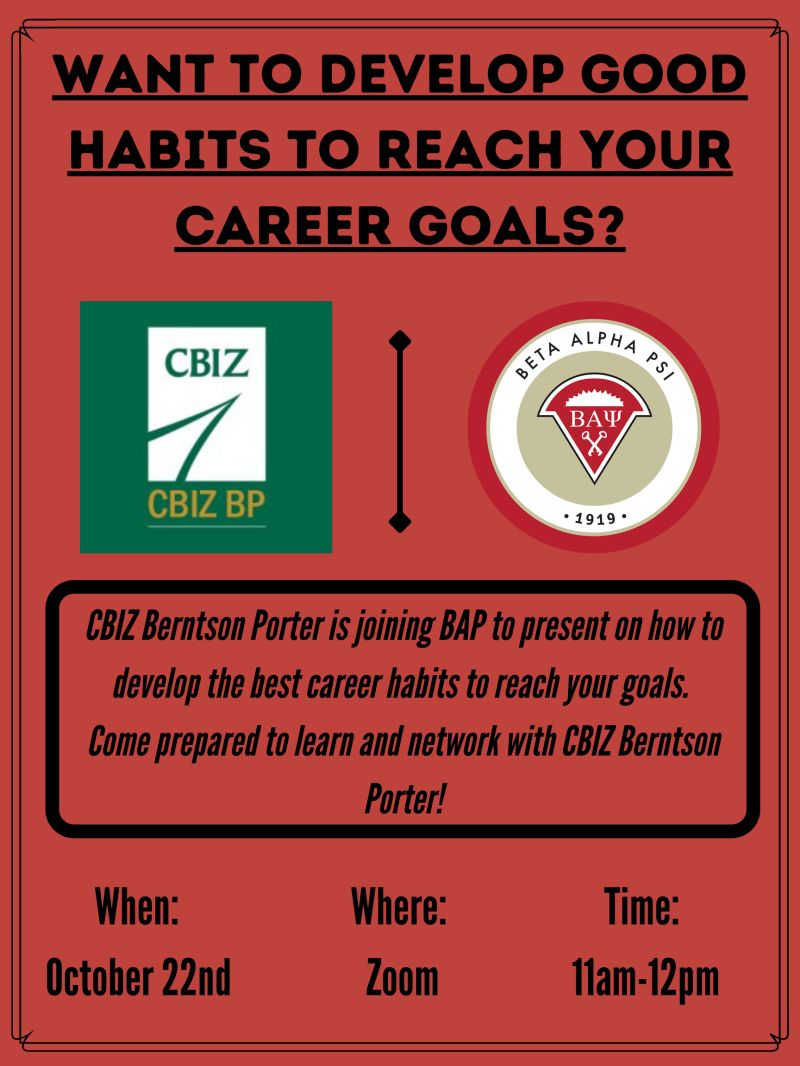 Developing Career Habits to Reach Your Goals with Beta Alpha Psi