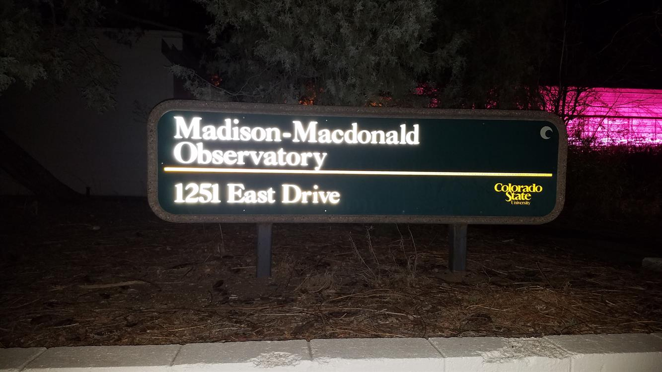 Star Party at the Madison-Macdonald Observatory!