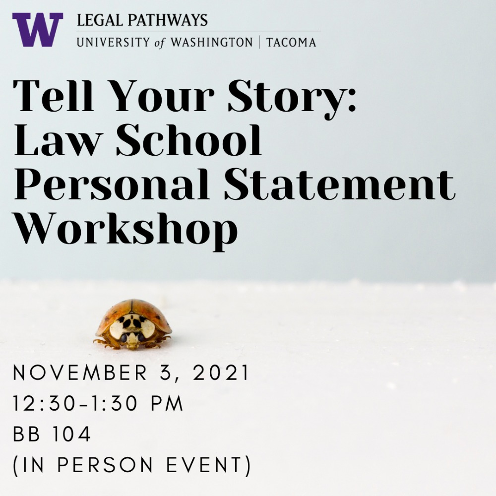 Law School Personal Statement Workshop (In Person Event)