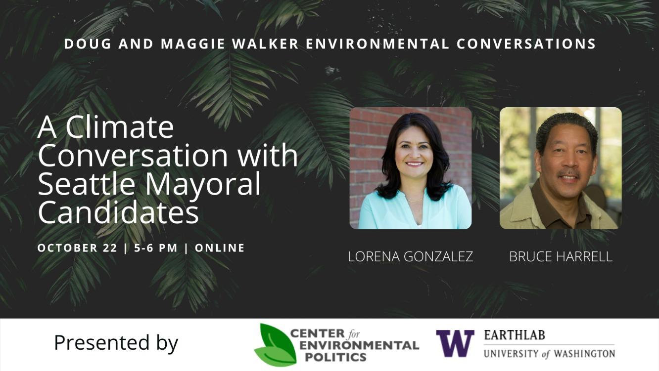 A Climate Conversation with Seattle Mayoral Candidates