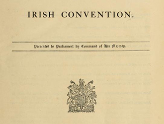 The Irish Convention, 1917-1918: A Centenary Symposium