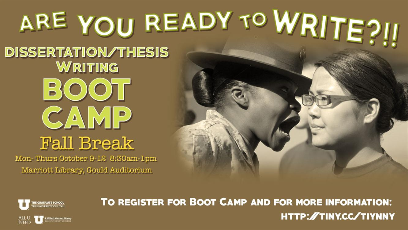 Thesis & Dissertation Boot Camp