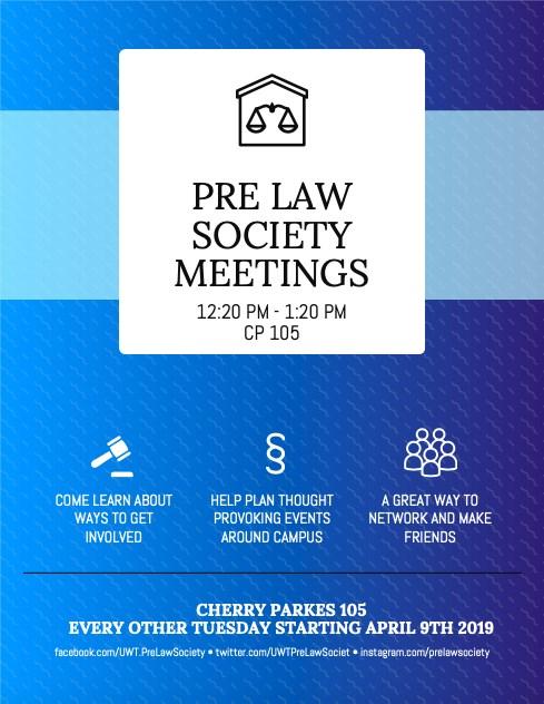 Pre-Law Society (RSO) Meeting
