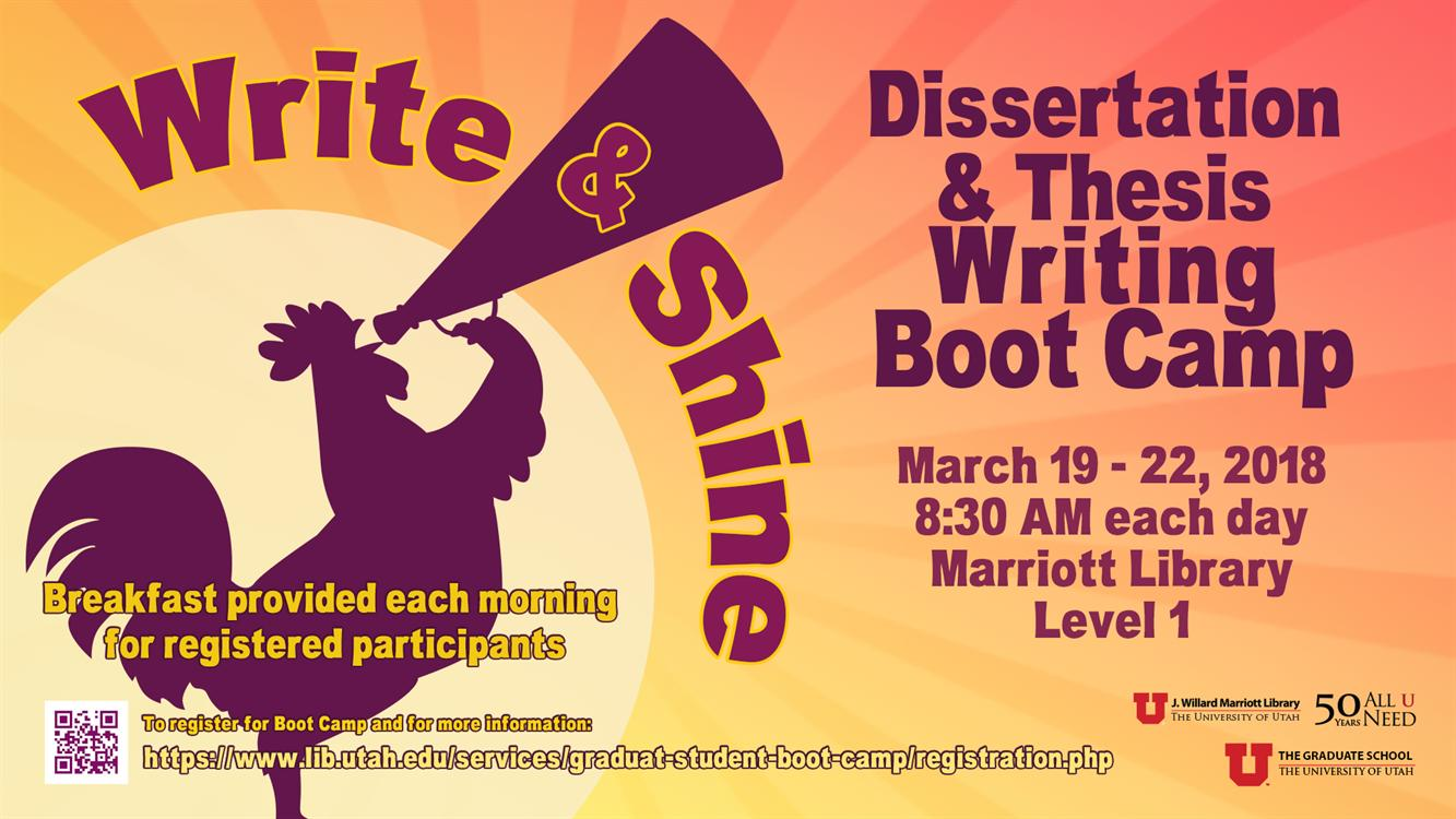Dissertation & Thesis Writing Boot Camp