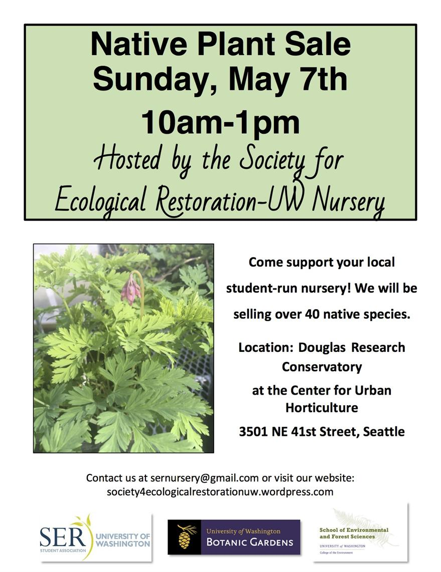 Society for Ecological Restoration-UW Nursery Public Plant Sale