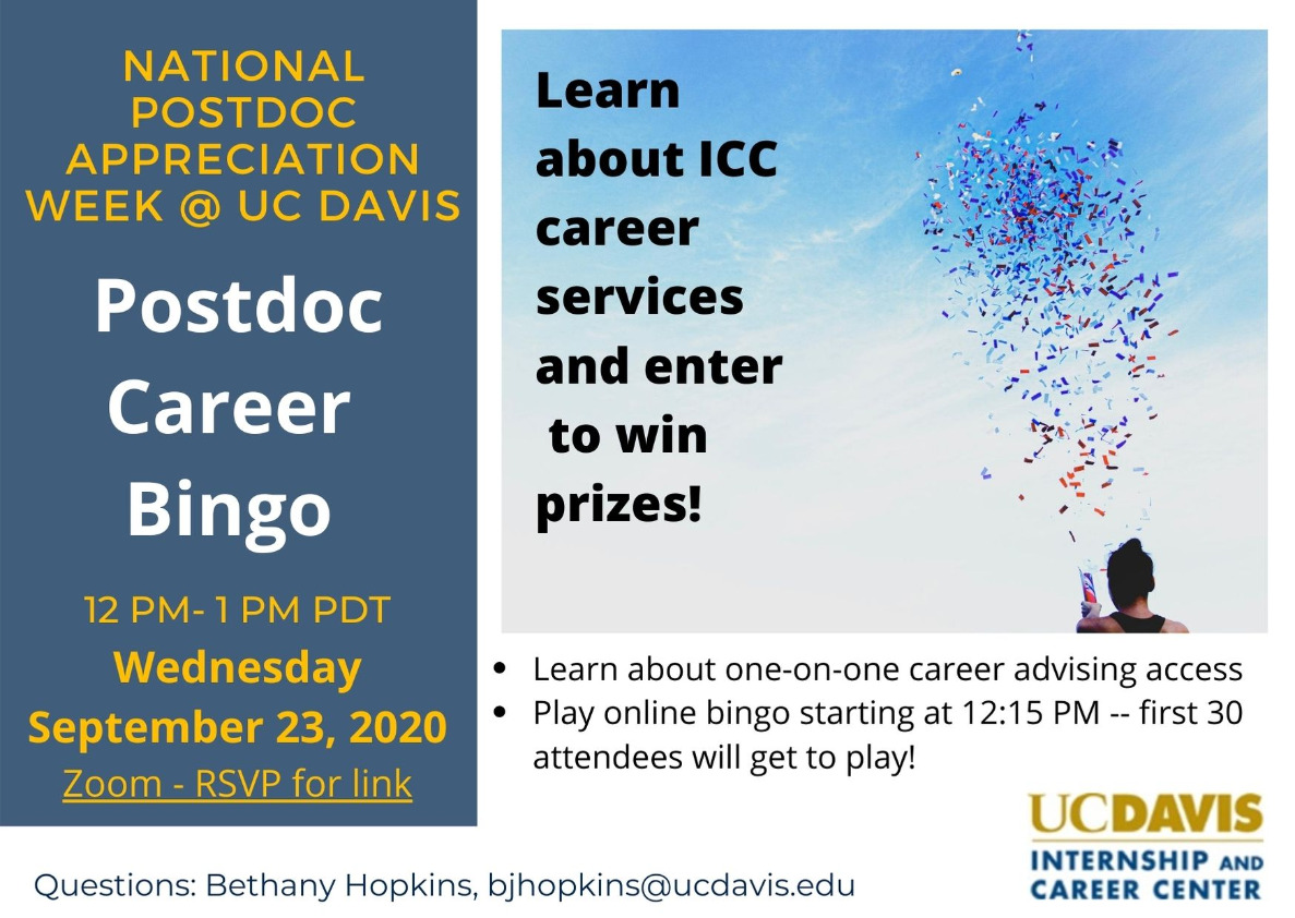 NPAW ICC Postdoc Career Bingo