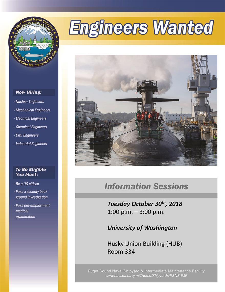 Info Session: Puget Sound Naval Shipyard