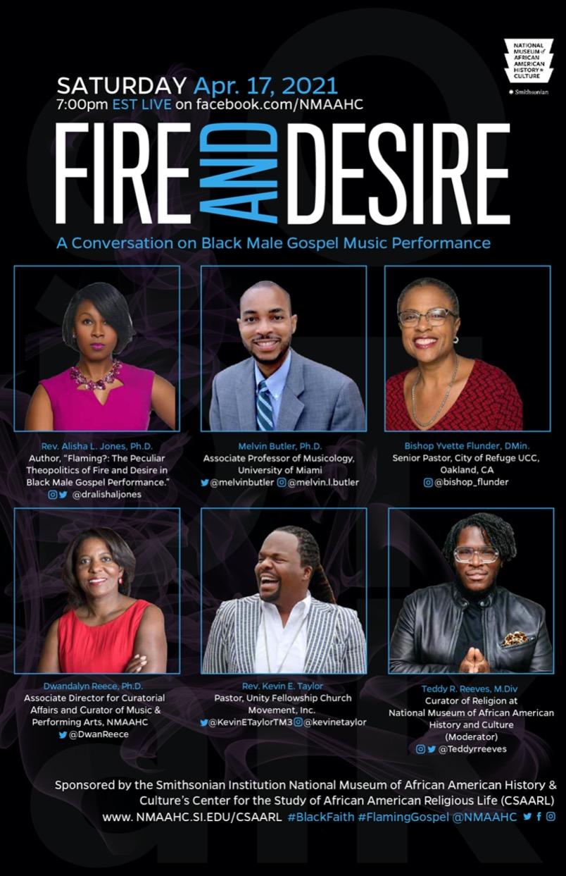 "CSAARL Program - ""Fire and Desire"": A Conversation on Black Male Gospel Performance"